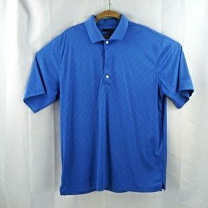 Greg Norman Play Dry Large Blue Mens Golf Polo Sho